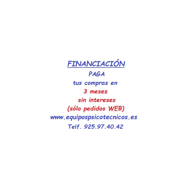 Financiación equipos psicotécnicos CRC