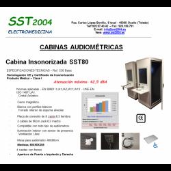 CABINA DE AUDIOMETRIA SST90...